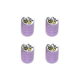 Bumble Bee   Tire Rim Wheel Valve Stem Caps   Purple Automotive