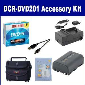 Sony DCR DVD201 Camcorder Accessory Kit includes 638002 Tape/ Media