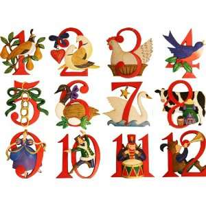 Number Ornament   12 Days of Christmas Ornament Set