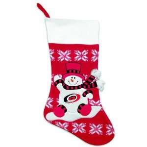 Snowman and Snowflake Christmas Stocking
