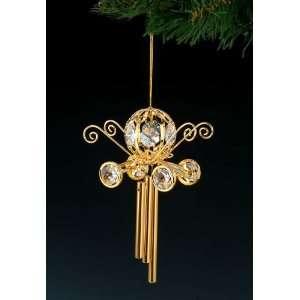CINDERELLA COACH 24k Gold Swarovski Crystal Wind Chime