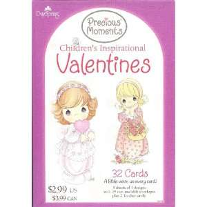 Precious Moments Valentine Cards for Kids with Scripture   Package of