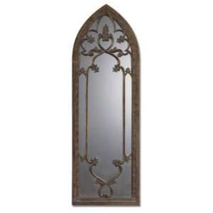 Catalina Heavily Antiqued Bronze Arch Mirror   Free