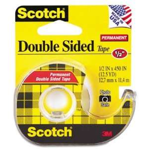 3m 665 Double Sided Office Tape w/Hand Dispenser MMM137