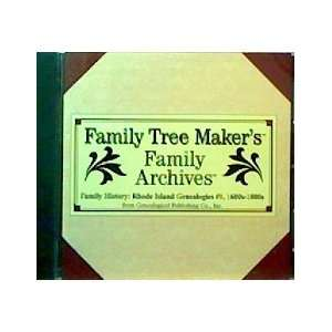 Rhode Island Genealogies #1, 1600s 1800s Family Tree Makers Books