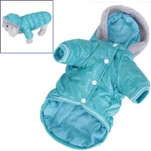 Pet Dog Hoodie Hooded Winter Puffy Coat Jacket   Size L: Pet Supplies