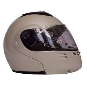 Full Face White Modular Motorcycle Helmet Automotive