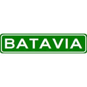 BATAVIA City Limit Sign   High Quality Aluminum
