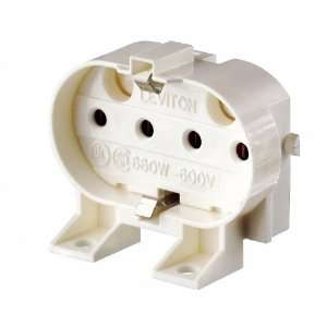 Base, 4 Pin, Twin Tube Fluorescent Lampholder, White Home Improvement