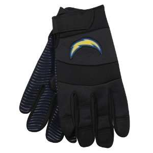 com NFL McArthur San Diego Chargers Black Deluxe Utility Work Gloves