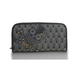 Sugar Skull Wallet   Black Loungefly Embroidered Sugar Skull Wallet