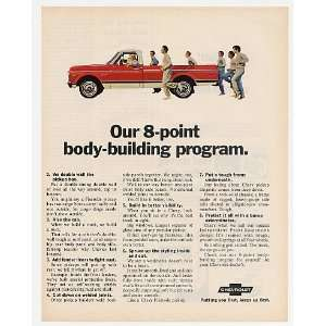 1970 Chevy Pickup Truck 8 Point Body Building Print Ad