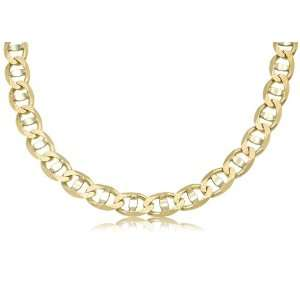 14K Solid Two Tone, Yellow and White Gold, Mariner Link Chain
