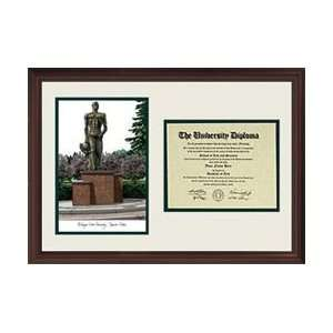 Michigan State University Spartan Statue scholar