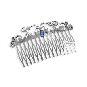 3 Silver Plated Fashion Hair Comb