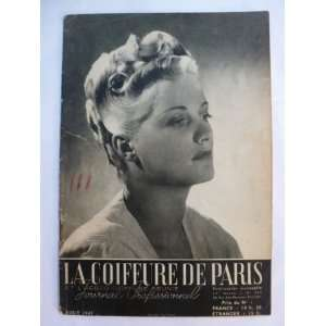 La Coiffure De Paris August 1947 Vintage Magazine French Hairdressing