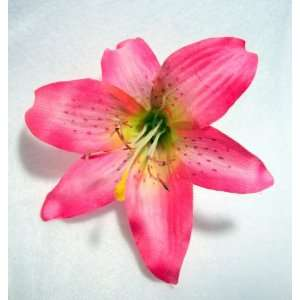 NEW Pink Lily Hair Flower Clip, Limited. Beauty