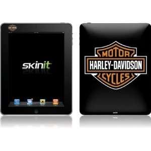 Skinit Harley Davidson Standard Logo on Black Vinyl Skin