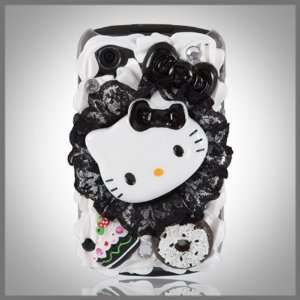 Hello Kitty Black Lace w Diamonds Treats Cake style case