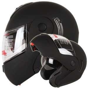 Dual Visor Modular Flip up Motorcycle Helmet DOT (Medium) Automotive