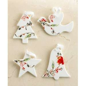 Lenox Christmas Ornaments, Set of 4 Chirp Holiday