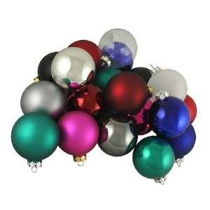Multi Color Glass Ball Christmas Ornaments 2.5
