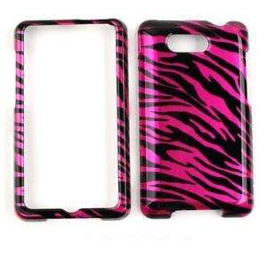 HTC ARIA Transparent Design Hot Pink Zebra Print HARD PROTECTOR COVER