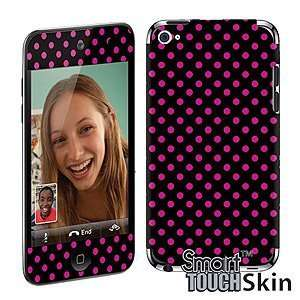 Smart Touch Skin for iPod touch (4th gen), Hot Pink Polka