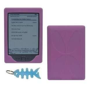 HappyZone   Pink Silicone Skin Cover + Light Blue Fishbone