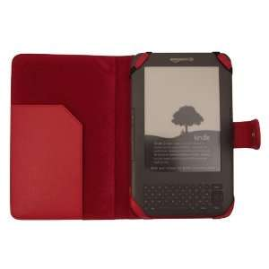 Tech Red Leather Flip Case for  Kindle 3 3G Wifi Electronics