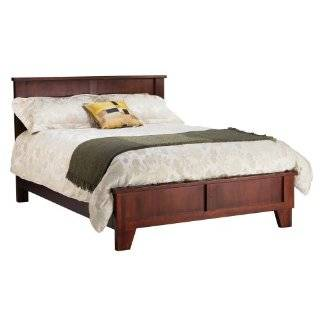 Sleigh Low Profile King Size Bed, Wood, Cinnamon: Home & Kitchen