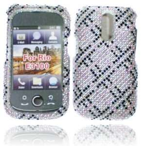 BLACK AND SILVER CASE FOR KYOCERA E3100 RIO Cell Phones & Accessories