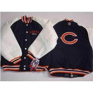 Chicago Bears NFL Youth/Kids Pleather/Wool Varsity Jacket