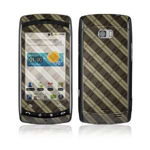 Plaid Decorative Skin Cover Decal Sticker for LG Ally VS740