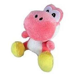 New Super Mario Bros. Wii 6 Inch Plush Pink Yoshi Toys