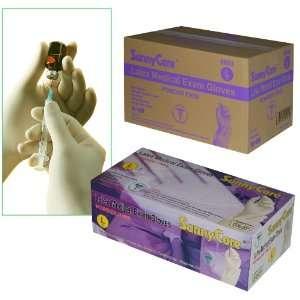 Sunnycare #6603 Latex Medical Exam Gloves Powder Free Size