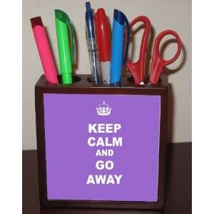 Rikki KnightTM Keep Calm or Go Away   Violet Color 5 Inch