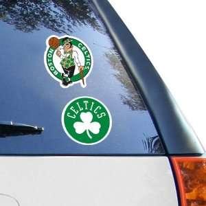 NBA Boston Celtics 2 Pack 4 x 4 Die Cut Decals Sports
