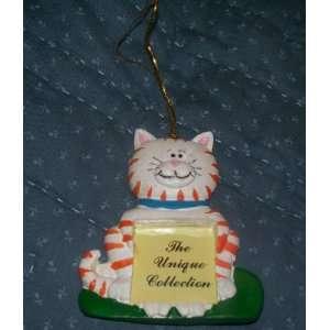 White Kitty Cat Photo Frame Christmas Ornament NEW