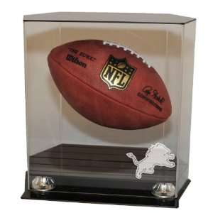 Floating Football Display Case With NFL Team Logo Option