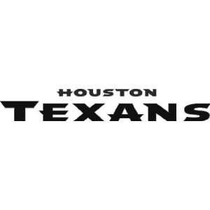 HOUSTON TEXANS LOGO NFL WHITE DECAL VINYL STICKER