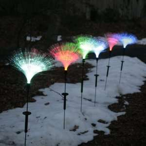 Garden Stakes with Fiber Optics + Color Changing LEDs Only $14.99 E