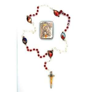 Specialty Rosary and Plaque Set with Pope John Paul II   MADE IN ITALY