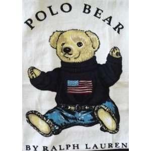 Ralph Lauren Polo Kids Children USA Flag Bear XL Beach Towel 35X66