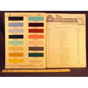 1957 LINCOLN Paint Colors Chip Page Ford Motor Company