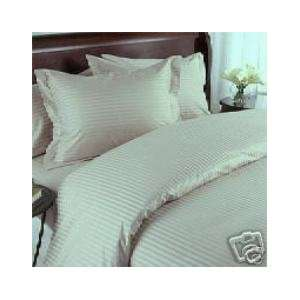 Stripes Sage mint 600 Thread Count Full/Queen Size Duvet Cover Set