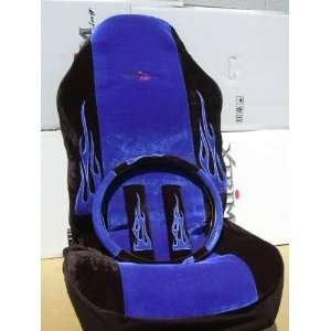 Sport Racing Universal Fit Bucket Seat Cover Flame 7pcs. Front Rear