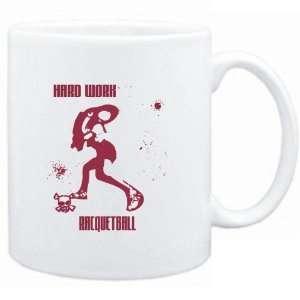 Mug White  HARD WORK Racquetball  Sports Sports & Outdoors