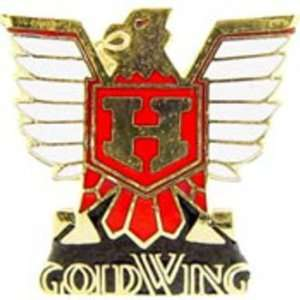Honda Gold Wing Logo Pin Red 1 Arts, Crafts & Sewing