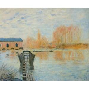 Oil Painting The Marly Machine and the Dam Alfred Sisley